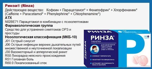 Ринза: инструкция по применению таблеток, стоимость препарата и эффективные аналоги, отзывы пациентов